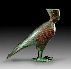 Egyptian Bronze Ba-Bird Figurine, Roman Imperial Period, 2nd Century AD harpy siren ruh soul