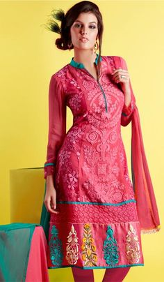 G3 fashions Magenta Georgette Party Wear Designer Salwar Suit  Product Code : G3-LSA104412 Price : INR RS 6790