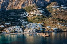 There are two ports on the Cycladic island of Amorgos island. This is 2nd one, Aegiali port, Archaeologous.com (tour specialists) say contact us with your #GreekVacation desires.
