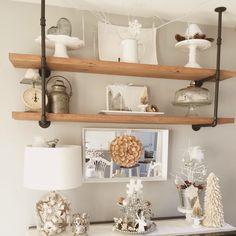 Vintage pipe shelf