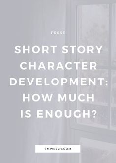 There are so many guides available on how to develop a character, but very few on short story characters. Often this is the case because developing characters for novels versus short stories isn't very different.  However, often people writing short stories can lose time developing their characters