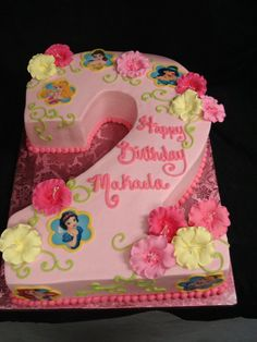 Your little Disney princess will love all of her favorites placed on her birthday cake. @PartyFlavors