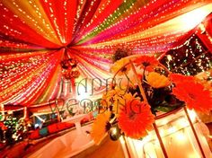 colorful canopy for mehndi!, indian decor for home
