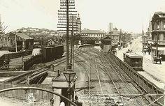 Railway station - Newcastle, 1900