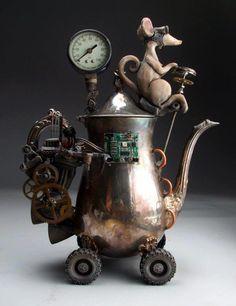 *Steampunk Sculpture - Grafton Pottery