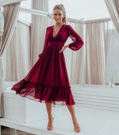 Midi para noivado - Jessie Moda Casual, Glamour, Dresses With Sleeves, Prom, Lingerie, Formal Dresses, Long Sleeve, Wedding, Fashion