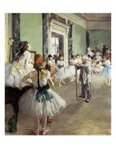 Dancing class, Edgar Degas,
