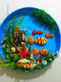 Stone art of Fussoli - Styles Crafts Stone Crafts, Rock Crafts, New Crafts, Diy Arts And Crafts, Paper Crafts, Ocean Crafts, Seashell Crafts, Beach Crafts, Summer Crafts For Kids
