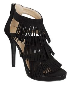 LOVE THESE!!! SO ME!       Look what I found on #zulily! Black Frisky Sandal by Forever Link Shoes #zulilyfinds