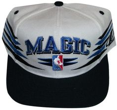 Orlando Magic Black   White NBA Plastic Snapback Adjustable Snap Back Hat    Cap  2bb8335eba2