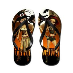 Magical Sisters Three Witch Flip Flops! #Witch #FlipFlops #Magical #Magic