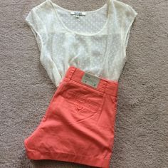 """J. Crew Coral Chino Shorts J. Crew 100% cotton, broken-in chino shorts. City Fit. 3"""" inseam. **Brand new with tags**  Reposhing. I bought these and they are a teeny bit too tight for me. J. Crew Other"""