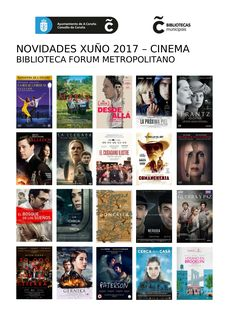 Novidades de Cinema na Biblioteca Forum Metropolitano no mes de xuño.
