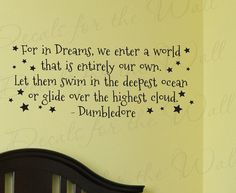 Dumbledore Harry Potter Girl or Boy Room Kid Baby Nursery Decorative Vinyl Lettering Large Wall Decal Quote Sticker Art Letters Decor B66. $27.97, via Etsy.