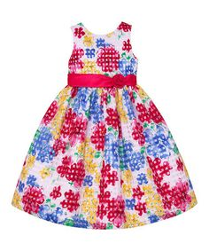 Love this Hot Pink Floral Check A-Line Dress - Infant, Toddler & Girls on #zulily! #zulilyfinds