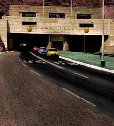 Boquerón 2 de la autopista Caracas - La Guaira Venezuela retro
