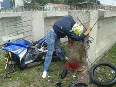 Fatal motorcycle crash. #death