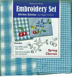 """Dunroven House """"Spring Cherries"""" Embroidery Set"""