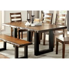 Shop for Furniture of America Dickens II Rustic Dining Table. Get free shipping at Overstock.com - Your Online Furniture Outlet Store! Get 5% in rewards with Club O! - 18564795