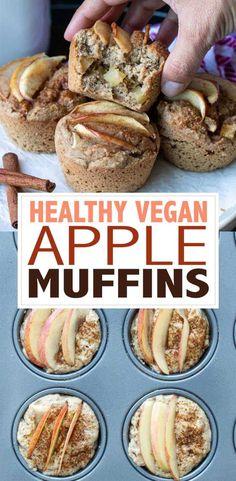 Healthy Bread Recipes, Allergy Free Recipes, Delicious Vegan Recipes, Apple Recipes, Vegan Desserts, Sweet Recipes, Whole Food Recipes, Vegan Food, Healthy Deserts