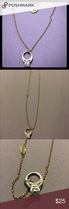 JUICY COUTURE mini diamond ring necklace juicy mini diamond ring charm on an 18 inch gold chain! Juicy Couture Jewelry Necklaces