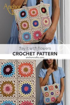 Treat yourself with this delightful crochet bag in trendy boho style! Crochet Tote, Crochet Handbags, Crochet Purses, Crochet Crafts, Easy Crochet, Crochet Stitches, Crochet Projects, Knit Crochet, Crochet Patterns