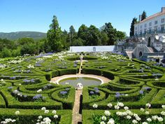 The magnificent parterres of Palácio de Calhariz, Portugal.30minutes South of Lisbon this is a hidden gem designed by Le Nôtre. Owned by the same family since it was built. The present Duke and Duchess of Palmela are as delightfully as they are discreet. Visitors are welcome to enjoy the eco-resort on the grounds of a vast Natural Reserve by the sea. Simple perfection! #resorts #tourism #greatholidays #theglobetrotter. #new destinations