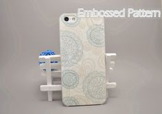 Folk Floral Totem Embossed Pattern iPhone 4/4S 5/5S by ATHiNGZ, $12.99