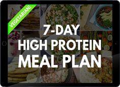 High Protein Vegetarian Meal Plan | hurrythefoodup.com