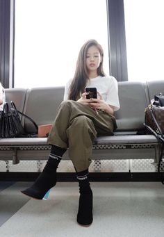 Jennie Kim in a bomb ass outfit