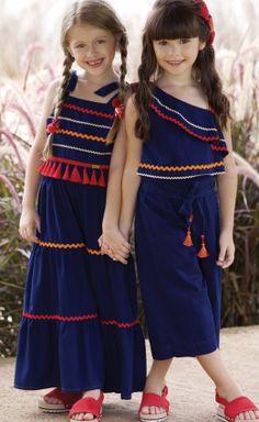 Kids Summer Dresses, Little Girl Dresses, Girls Dresses, Fashion Kids, Girl Fashion, Kids Dress Wear, Baby Dress, Stylish Dress Designs, Stylish Dresses