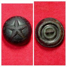 Excellent condition excavated coat size Confederate local Mississippi Beveled Star Miltia button  This button was recovered on private property from Gen. Walthall's 1862 - 1863 Mississippi camp located on private property near Estill Springs, TN