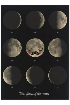 Mr Moon, Moon Phases - poster by Martin Krusche - the KID who