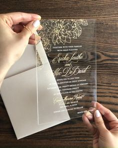 Floral Acrylic Invitations Clear Acrylic Wedding Invitation with Gold Flowers and Blush Envelopes de Wedding Shower Favors, Beach Wedding Favors, Wedding Souvenir, Wedding Shot, Wedding Music, Nautical Wedding, Diy Wedding, Wedding Reception, Bridal Shower
