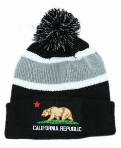 California Republic Beanie (1) , for sale  6.9 - www.hats-malls.com