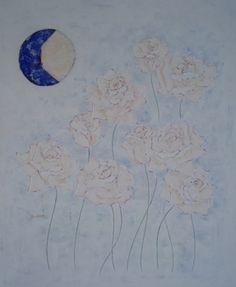 weisse rosen und blauer mond