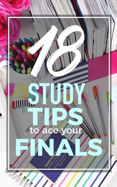 18 Study tips to ace your finals