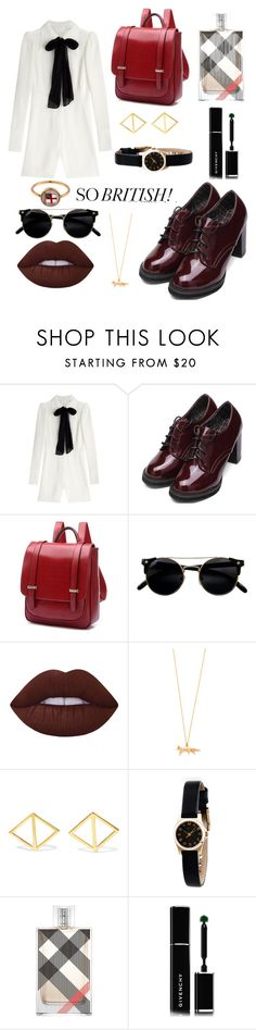 """""""Sem título #374"""" by bia-melo ❤ liked on Polyvore featuring Maison Margiela, Lime Crime, Alex Monroe, Arme De L'Amour, Marc by Marc Jacobs, Burberry, Givenchy and Annina Vogel"""