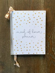 Maid of Honor Wedding Planner & Organizer  Gold by OrganizedBride