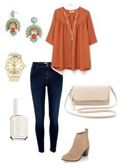 """Untitled #330"" by kmysoccer on Polyvore featuring River Island, MANGO, New Look, Charlotte Russe, BaubleBar, Panacea and Essie"