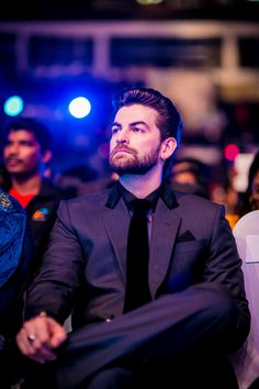 Neil Nitin Mukesh looked dapper in a copper black suit at SIIMA Awards 2014