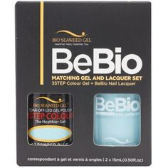 Bio Seaweed Gel Color + Matching Lacquer Powder Blue #23