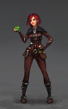 character art f Rogue Arcane Trickster Leather Armor Potions undercity urban city Personal work on Behance Character Design Challenge, Character Design Cartoon, Fantasy Character Design, Character Design Inspiration, Girls Characters, Dnd Characters, Fantasy Characters, Female Characters, Fantasy Figures