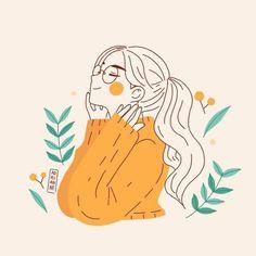 Cute Art Styles, Cartoon Art Styles, Arte Sketchbook, Anime Art Girl, Aesthetic Art, Aesthetic Anime, Aesthetic Drawings, Simple Aesthetic, Korean Aesthetic