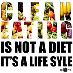 Its a lifestyle not a diet ---