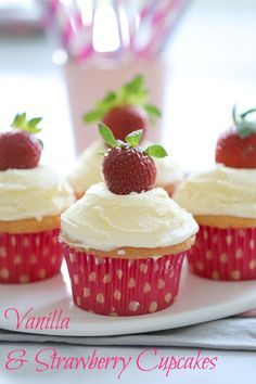 My absolute favourite Thermomix Vanilla Cupcake recipe (with frosting!!). #vanilla   #cupcakes   #recipe   #easy   #frosting   #strawberry  #conventional #thermomix