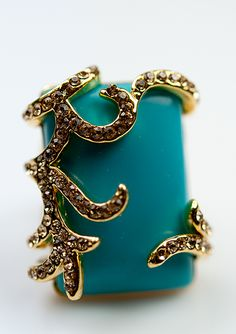 Cocktail rings are my favorite accessory.  Check this beautiful ring from Belina at shopbelina.com