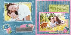 Love You Nancy O'Dell 8x8 Love Two-Page Scrapbook Layout Page Idea