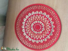 Mandala-ablakdísz (deakagnes63) - Meska.hu Beach Mat, Mandala, Outdoor Blanket, Diy, Bricolage, Mandalas, Do It Yourself, Fai Da Te, Coloring Pages Mandala