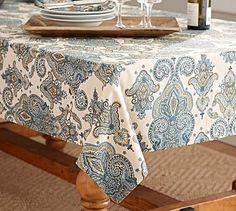 Mansfield Print Tablecloth #potterybarn